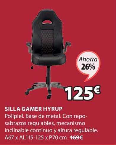 JYSK Ahorra 26% Silla Gamer Hyrup