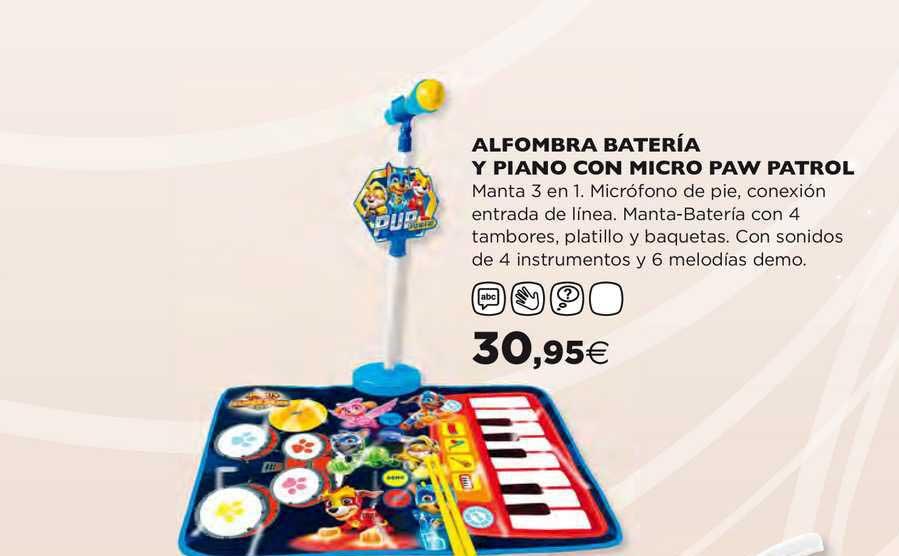 Hipercor Alfombra Bateriá Y Piano Con Micro Paw Patrol