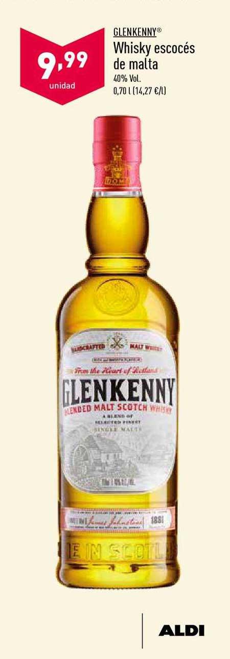 ALDI Glen Kenny Whisky Escocés De Malta