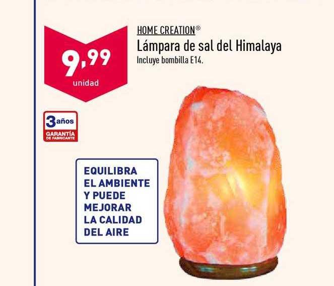ALDI Home Creation Lámpara De Sal Del Himalaya
