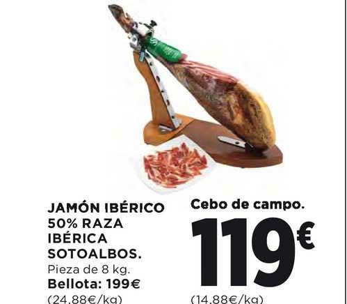 Hipercor Jamón Ibérico 50% Raza Ibérica Sotoalbos