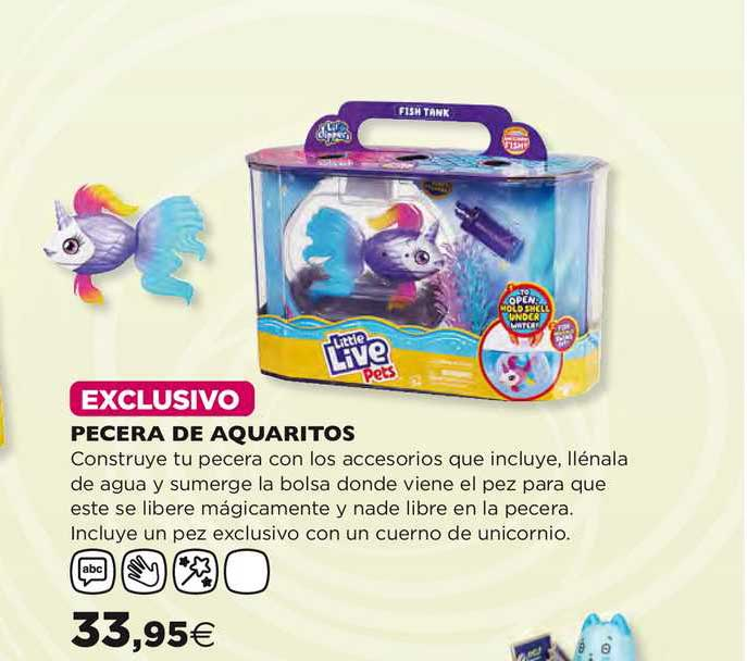 Hipercor Little Live Pets Pecera De Aquaritos