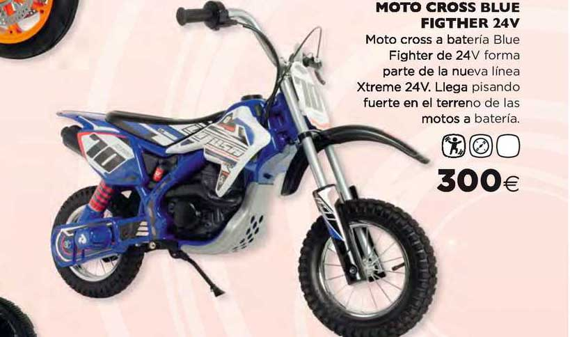 Hipercor Moto Cross Blue Fighter 24v