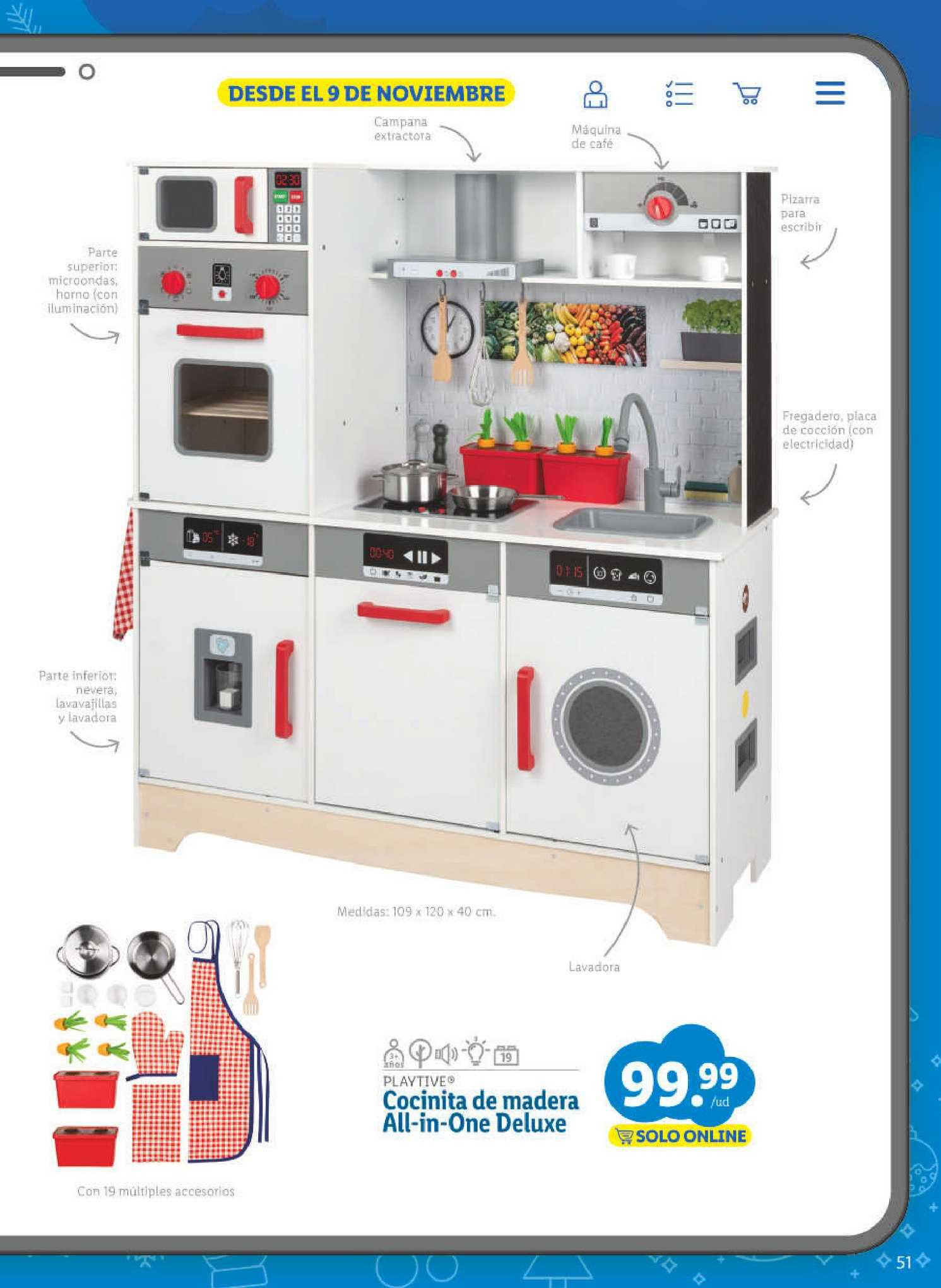 LIDL Playtive Cocinita De Madera All-in-one Deluxe