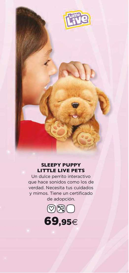 Hipercor Sleepy Puppy Little Live Pets