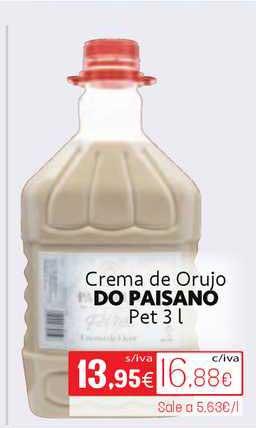 Cuevas Cash Crema De Orujo Do Paisano