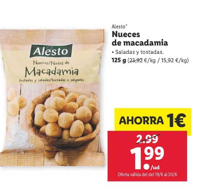 LIDL Alesto Nueces De Macadamia