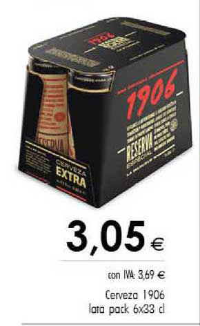 Cash Ifa Cerveza 1906 Lata