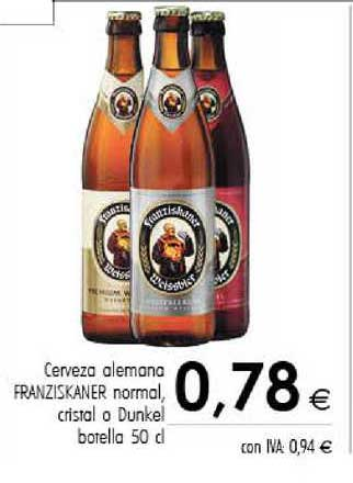 Cash Ifa Cerveza Alemana Franziskner Norma Cristal O Dunkel