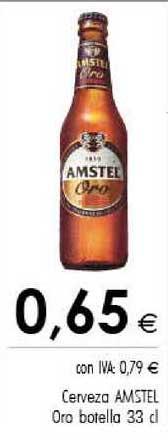 Cash Ifa Cerveza Amstel Oro