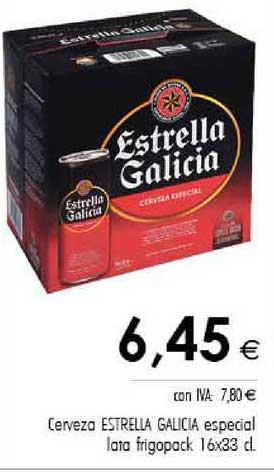 Cash Ifa Cerveza Estrella Galicia Especial Lata Frigopack