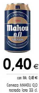 Cash Ifa Cerveza Mahou 0.0 Tostada