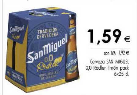 Cash Ifa Cerveza San Miguel 0.0 Rodler Limón Pack