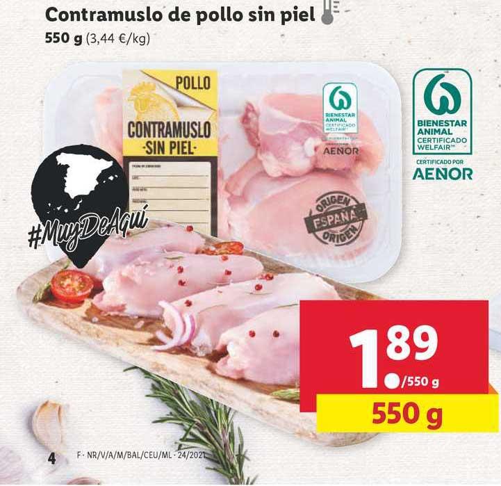 LIDL Contramuslo De Pollo Sin Piel