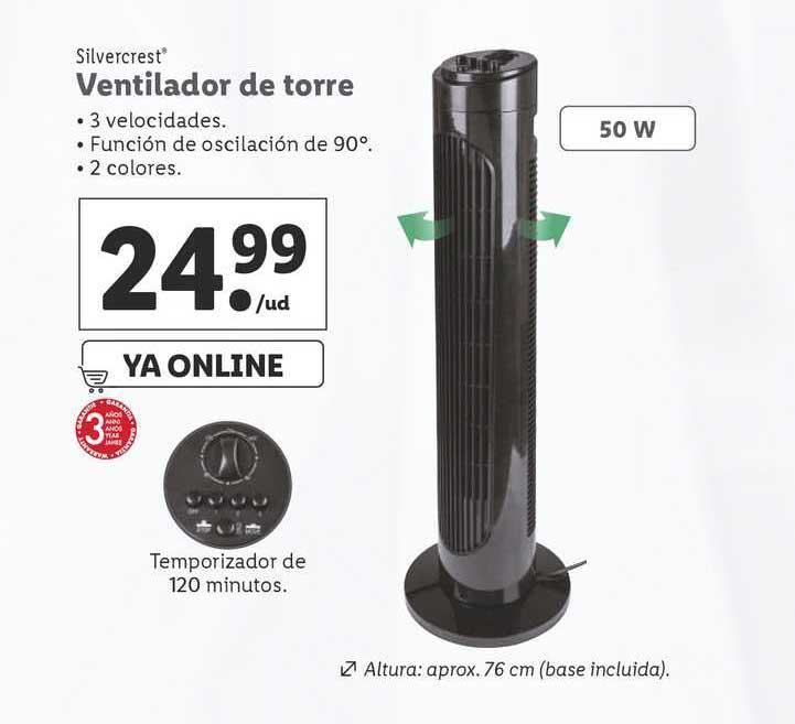 LIDL Silvercrest Ventilador De Torre