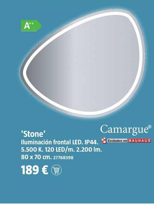 Espejo con luz LED con cambio de color y aumento Shira (An x