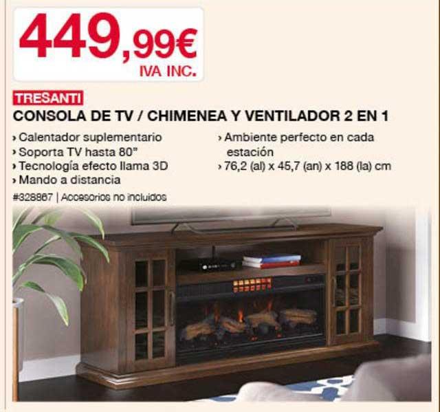 Costco Tresanti Consola De TV ∕ Chimenea Y Ventilador 2 En 1