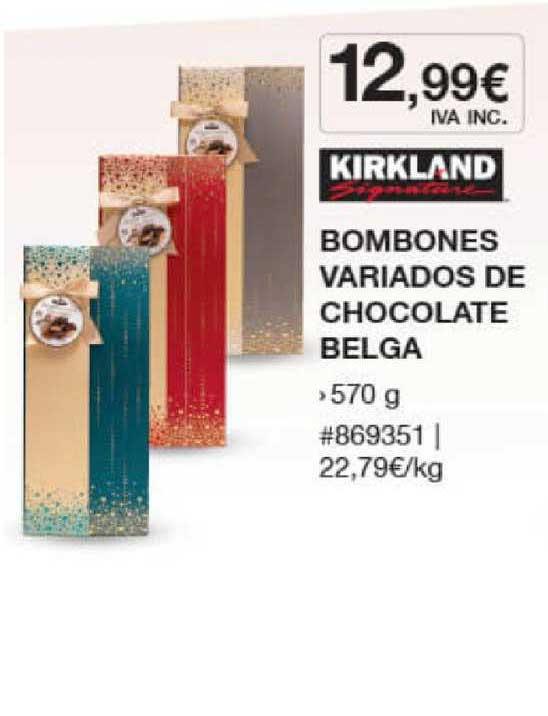 Costco Kirkland Signature Bombones Variados De Chocolate Belga