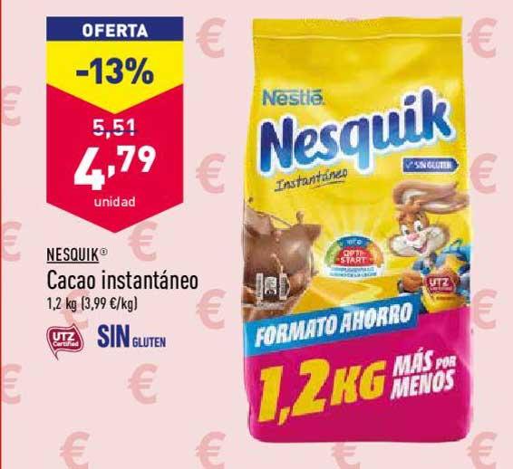 Oferta Oferta 13 Nesquik Cacao Instantáneo 1 2 Kg En Aldi