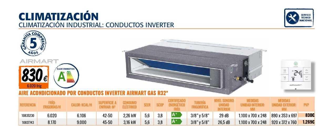 Bricomart Aire Acondicionado Por Conductos Inverter Airmart Gas R32