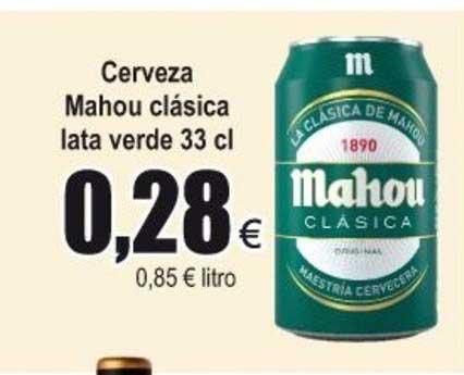 Froiz Cerveza Mahou Clásica Lata Verde 33 Cl