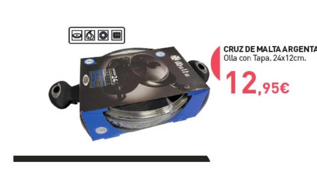 Primaprix Cruz De Malta Argenta Olla Con Tapa. 24x12cm