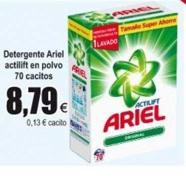 Froiz Detergente Ariel Actilift En Polvo 70 Cacitos
