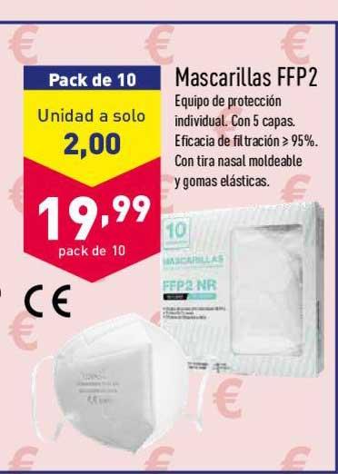 ALDI Pack De 10 Mascarillas FFP2