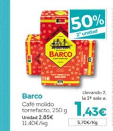 Hiber 50% 2ᵃ Unidad Barco Café Molido Torrefacto, 250 G
