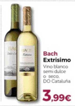 Hiber Bach Extrisimo Vino Blanco Semi Dulce O Seco, DO Cataluña