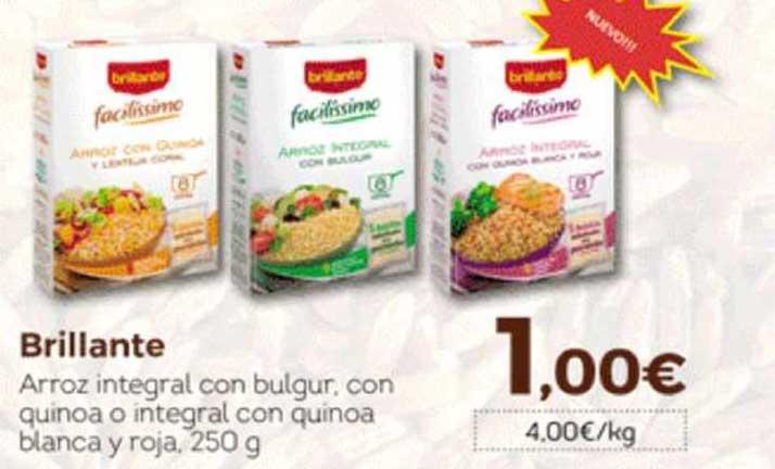 Hiber Brillante Arroz Integral Con Bulgur, Con Quinoa O Integral Con Quinoa Blanca Y Roja