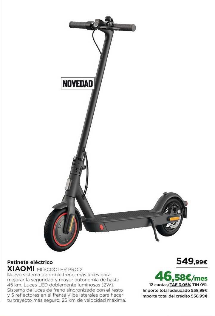Oferta Patinete Eléctrico Xiaomi Mi Scooter Pro 2 En El Corte Ingles