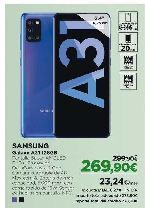 El Corte Inglés Samsung Galaxy A31 128 GB