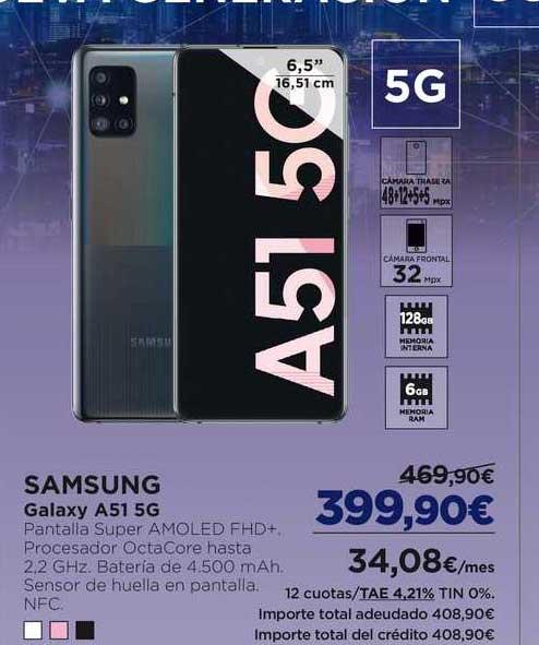 El Corte Inglés Samsung Galaxy A51 5G