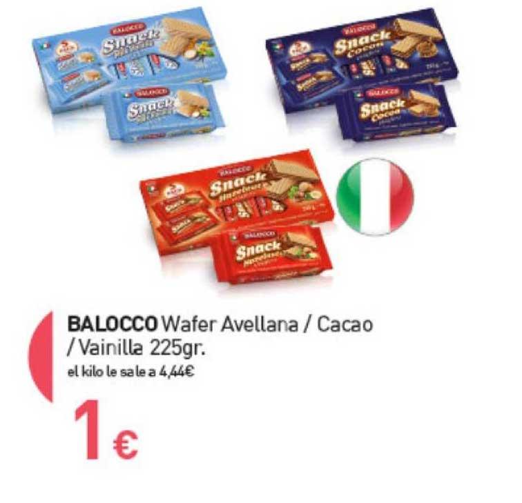 Primaprix Balocco Wafer Avellana ∕ Cacao ∕ Vainilla 225gr.