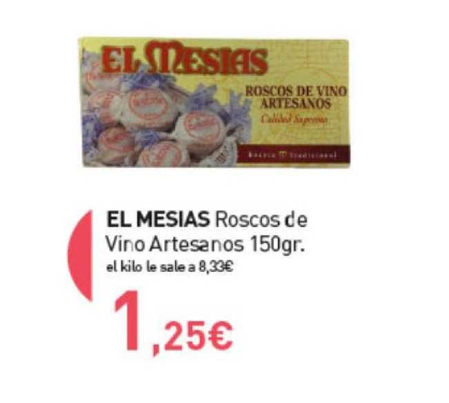 Primaprix El Mesias Roscos De Vino Artesanos 150gr.