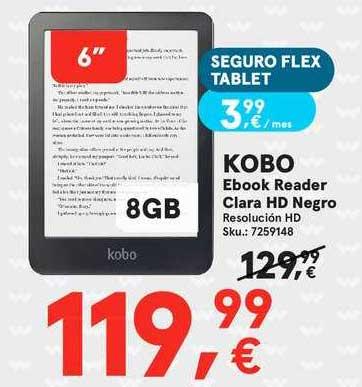Worten Kobo Ebook Reader Clara Hd Negro