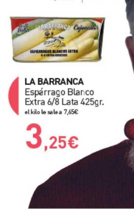 Primaprix La Barranca Espárrago Blanco Extra 6∕ 8 Lata 425gr.