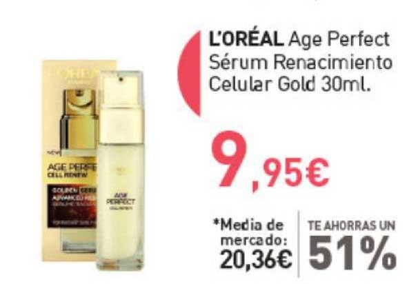 Primaprix Te Ahorras Un 51% L'oréal Age Perfect Sérum Renacimiento Celular Gold 30ml