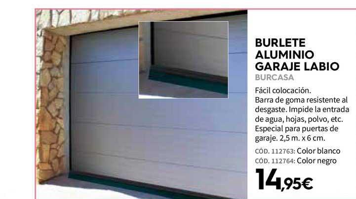 Ferrokey Burlete Aluminio Garaje Labio Burcasa