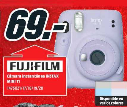 MediaMarkt Fujifilm Cámara Instantánea Instax Mini 11