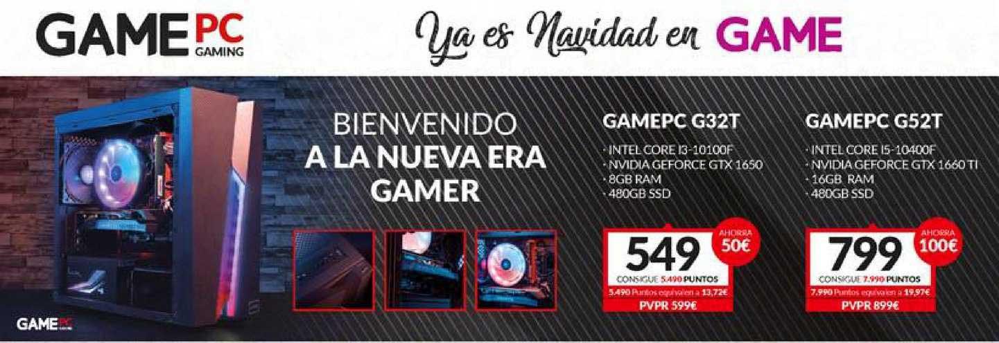 Game Gamepc Gaming Bienvenido A La Nueva Era Gamer: Gamepc G32t ⁄ Gamepc G52t