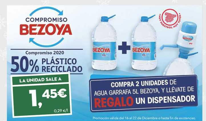 SuperSol La Unidad Sale A 1,45€ Compra 2 Unidades De Agua Garrafa 5l Bezoya, Y Llévate De Regalo Un Dispensador