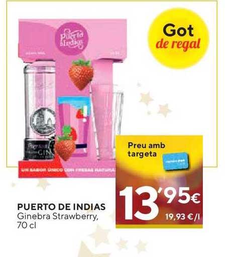 Caprabo Puerto De Indias Ginebra Strawberry, 70 Cl