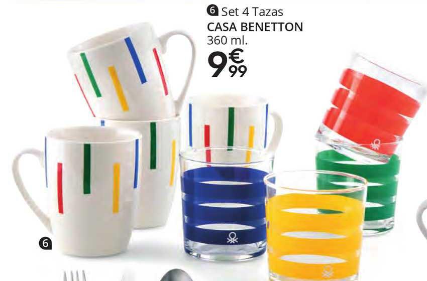 Conforama Set 4 Tazas Casa Benetton 360 Ml