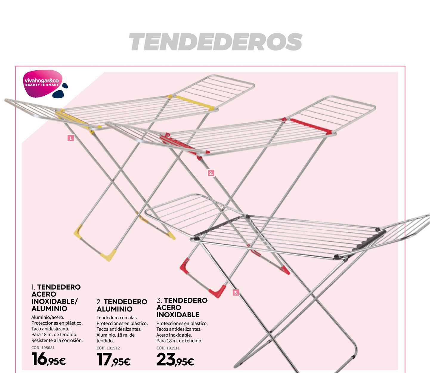 Ferrokey Tendedero Acero Inoxidable⁄aluminio, Tendedero Aluminio, Tendedero Acero Inoxidable
