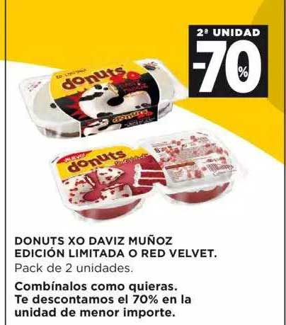 Hipercor 2ª Unidad -70% Donuts Xo David Muñoz Edición Limitada O Red Velvet