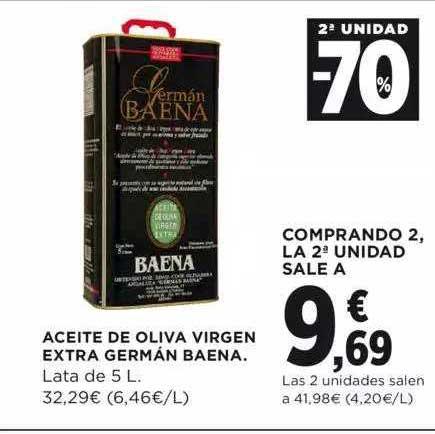 Hipercor 2ª Unidad -70% Aceite De Oliva Virgen Extra Germán Baena