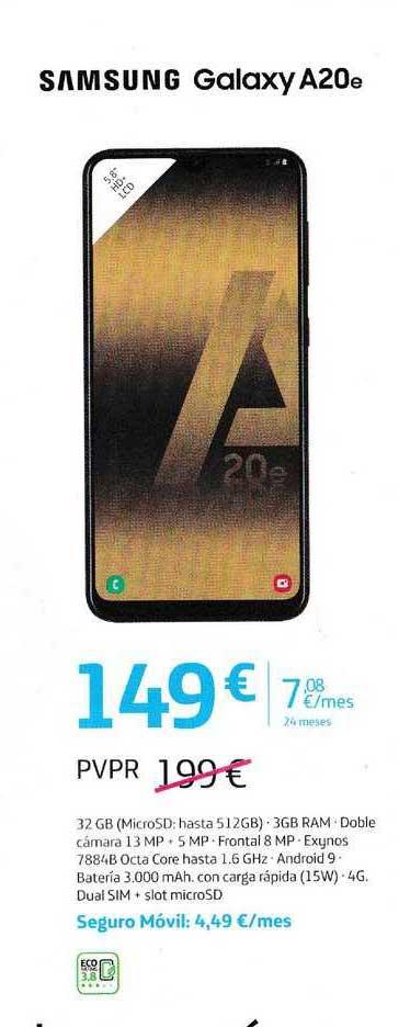 Movistar Samsung Galaxy A20e