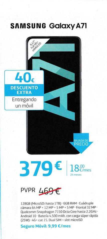 Movistar Samsung Galaxy A71